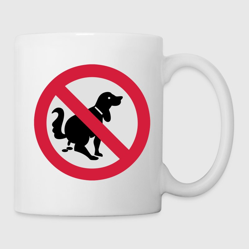 NO Dog Poop Sign Mugs  - Mug