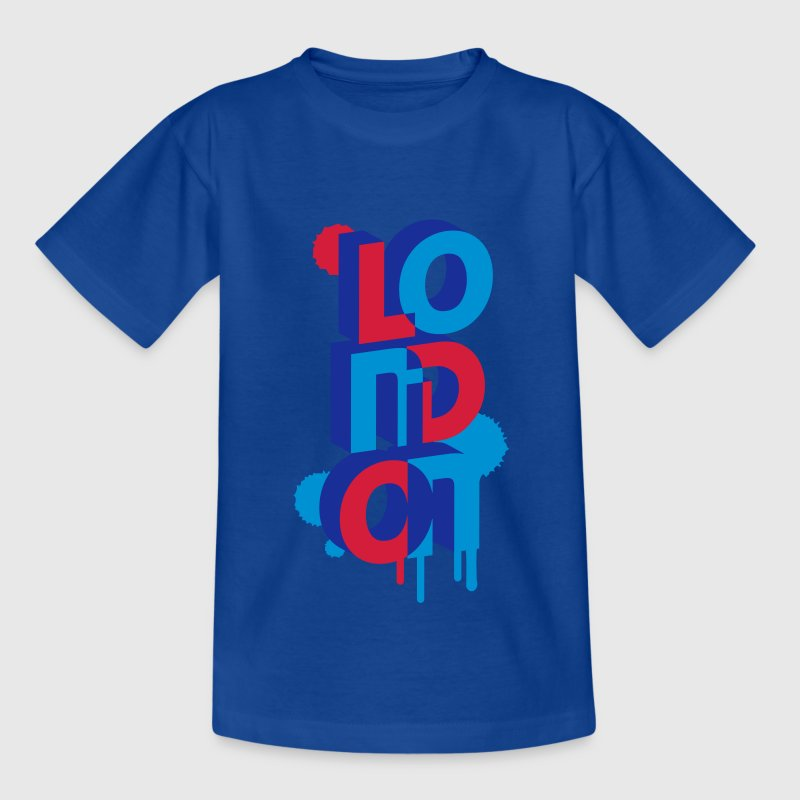 London in 3D letters Kids' Shirts - Teenage T-shirt