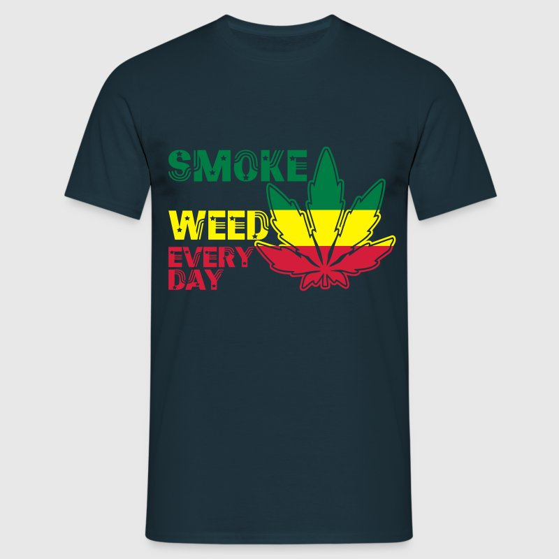 smoke weed every day T-shirts - Mannen T-shirt
