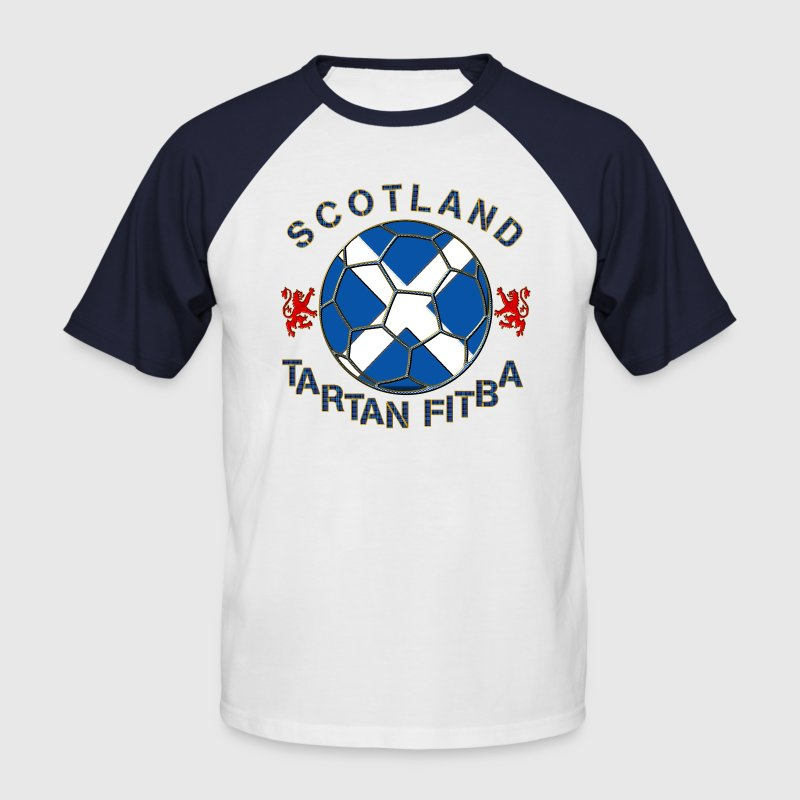 tartan football scotland saltire T-Shirts - Men's Baseball T-Shirt