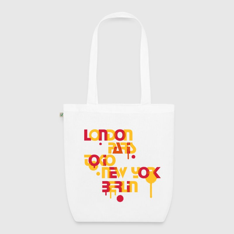 six cities, London, Paris, Tokyo, New York, Berlin, Bags  - EarthPositive Tote Bag