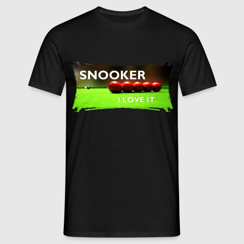 SNOOKER - I LOVE IT | unisex shirt - Männer T-Shirt