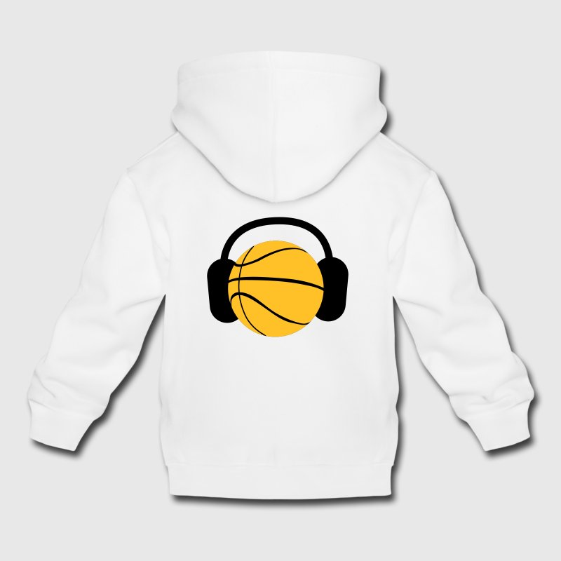 a basketball with headphones music Kids' Tops - Kids' Premium Hoodie
