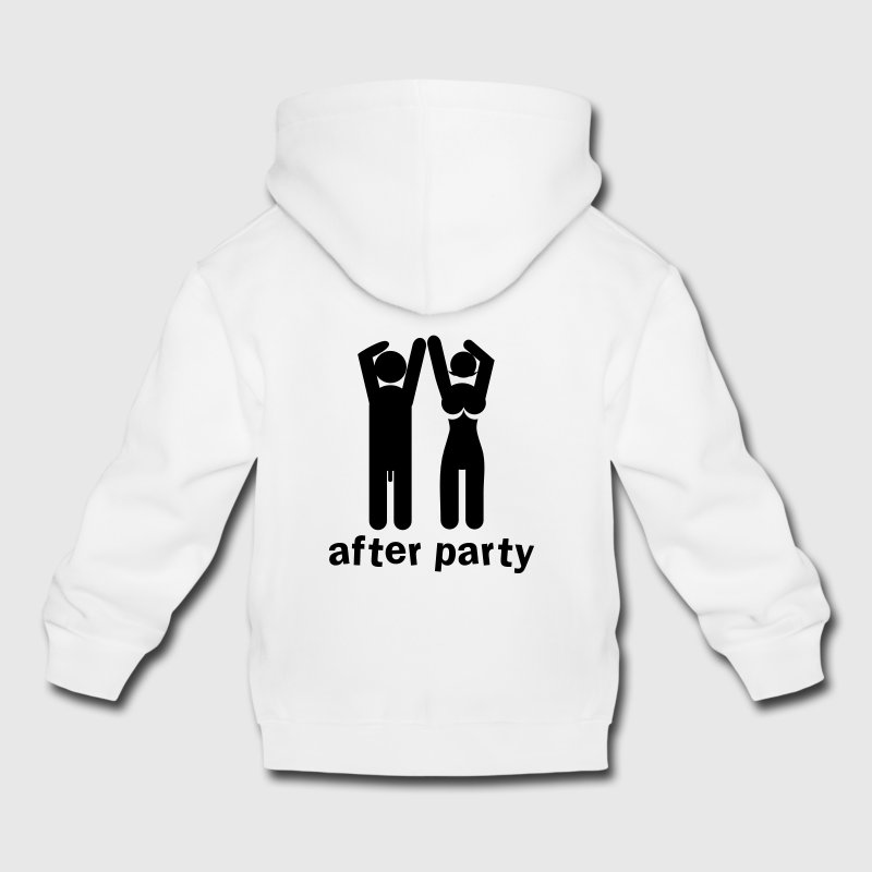 after party naked man and woman with willy and boobs Kids' Tops - Kids' Premium Hoodie