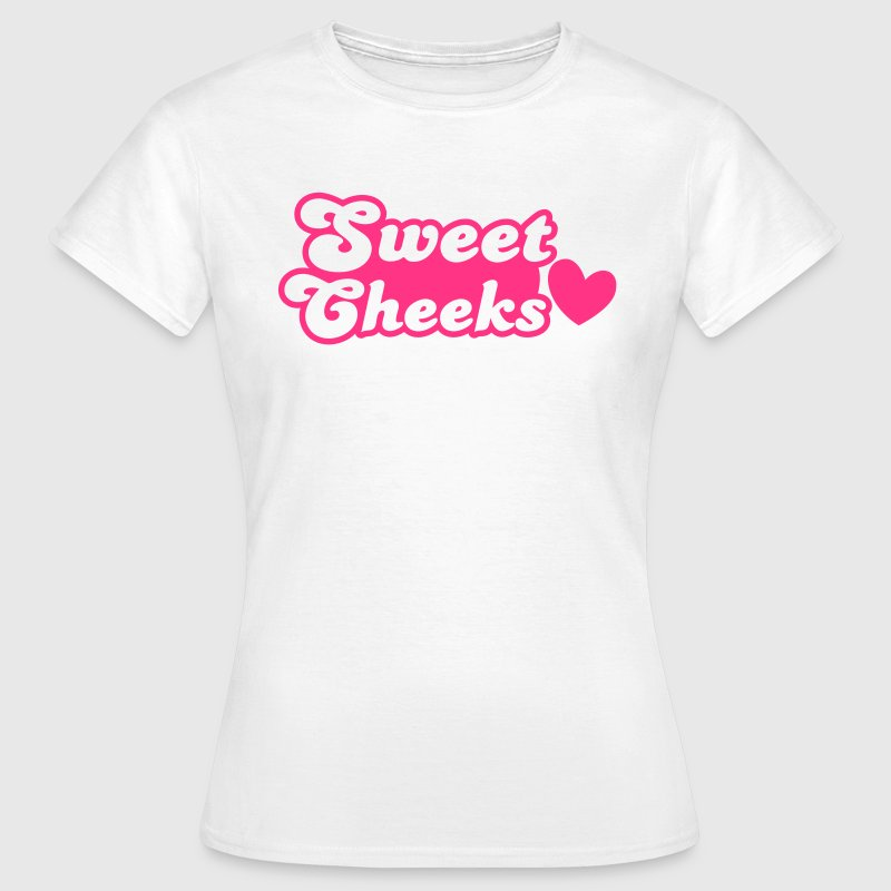sweet cheeks with love heart (Great for pants!) T-Shirts - Women's T-Shirt