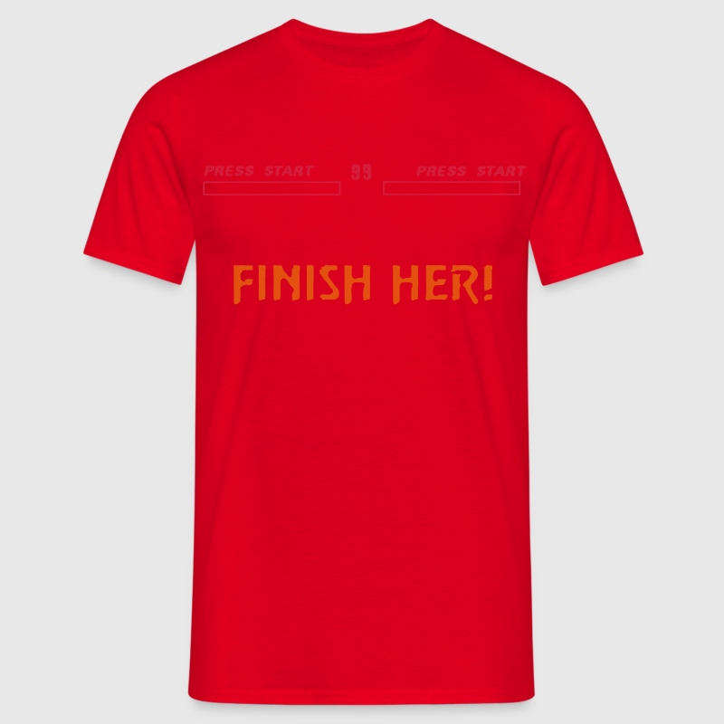 FINISH HER! & KO Score Mortal Kombat Style - Men's T-Shirt