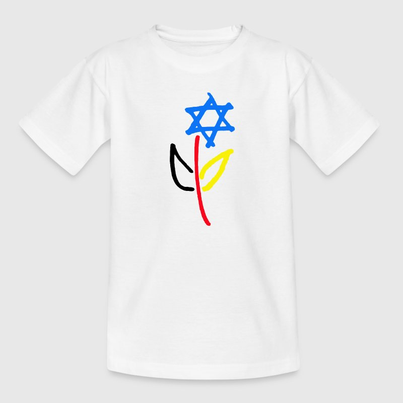 Deutsch Israelische Freundschaft Kinder T-Shirts - Teenager T-Shirt