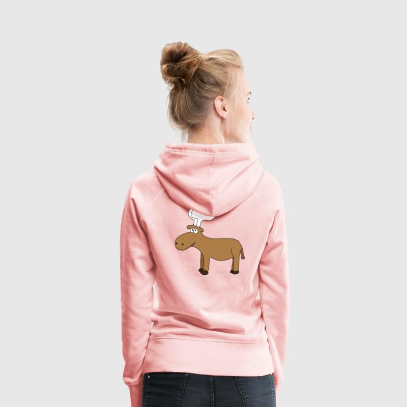 Wapiti Sweat-shirts - Sweat-shirt à capuche Premium pour femmes