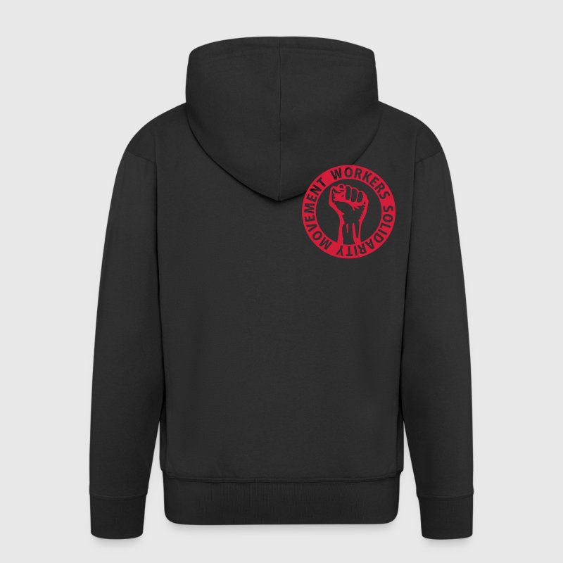 1 colors - Workers Solidarity Movement - Working Class Unity Against Capitalism Vestes & gilets - Veste à capuche Premium Homme