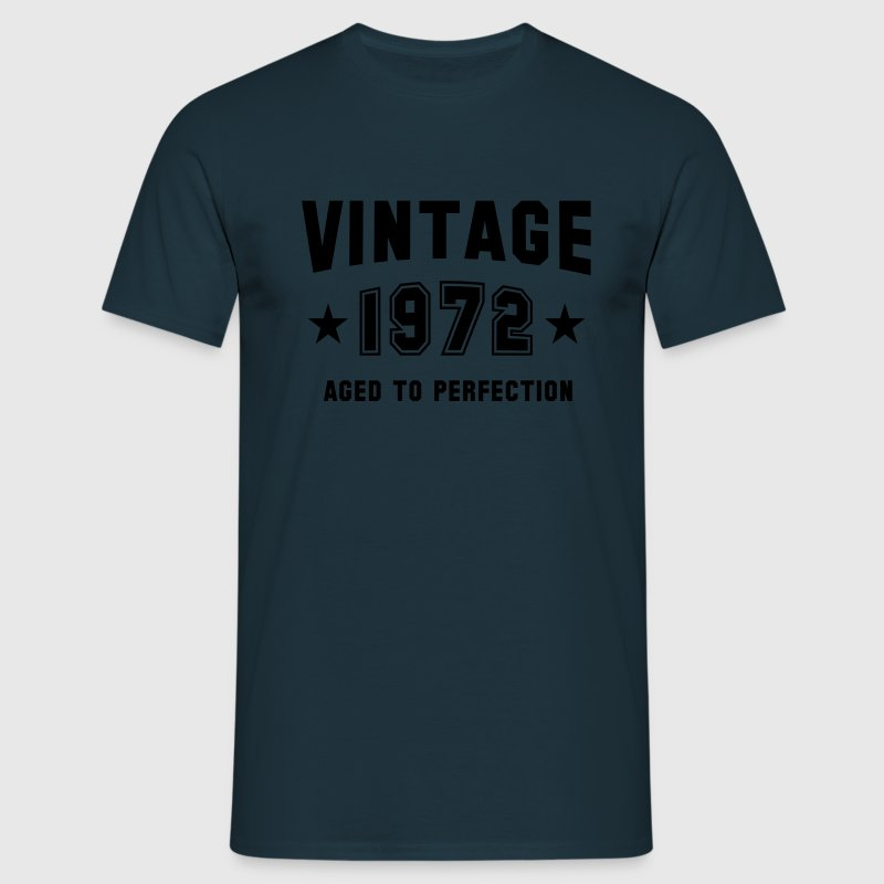 VINTAGE 1972 T-Shirt - Aged To Perfection SN - Männer T-Shirt