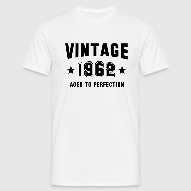 VINTAGE 1962 T-Shirt - Aged To Perfection BW - Männer T-Shirt