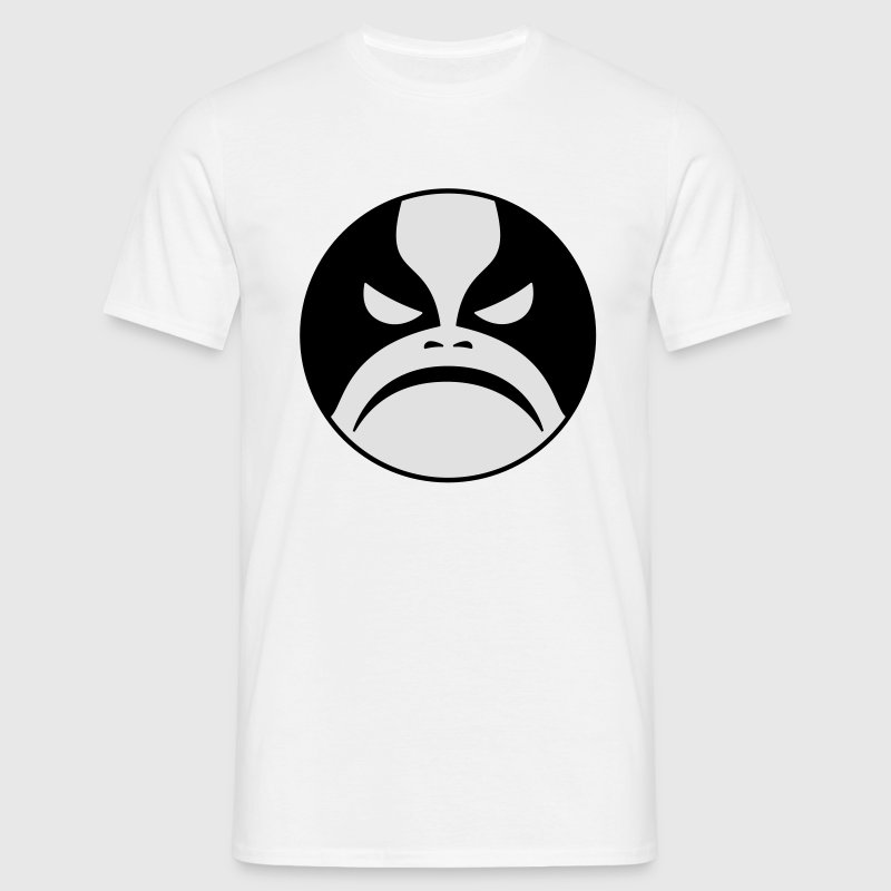 Black Metal Angry Face from Norway. Emoticon. - Men's T-Shirt