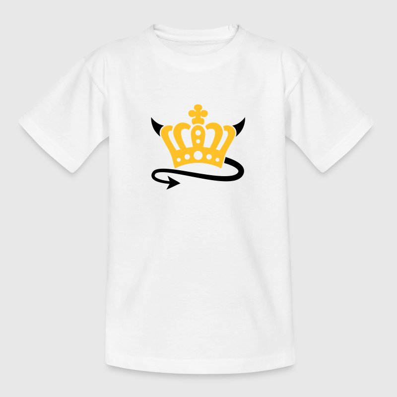 Devil | Queen | King | Königin | König | Crown | Krone Kinder T-Shirts - Camiseta niño
