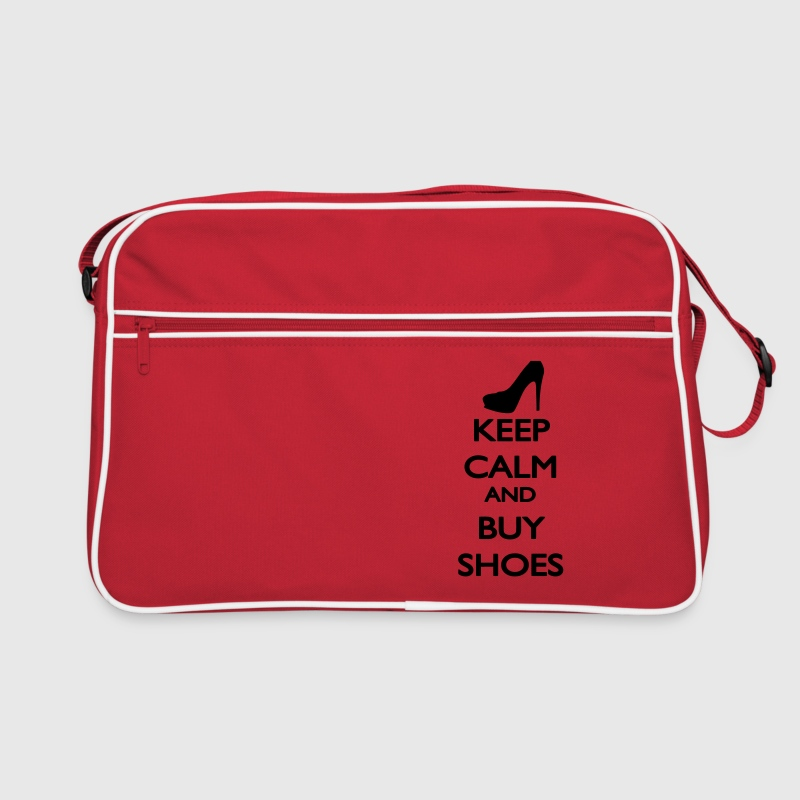 Keep Calm and buy Shoes Taschen - Retro Tasche