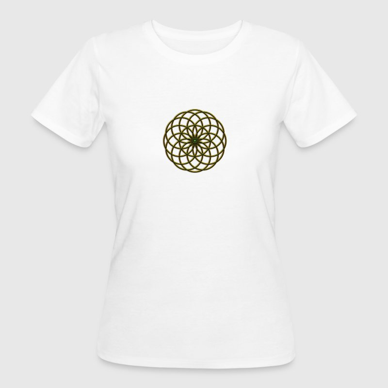 FEEL THE FORCE! Seed of Life - Tube Torus, digital, gold, energy, symbol, protection, powerful, icon T-Shirts - Frauen Bio-T-Shirt