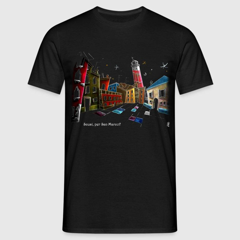 Campo Sant'Angelo in Venice Italy - Men's T-Shirt