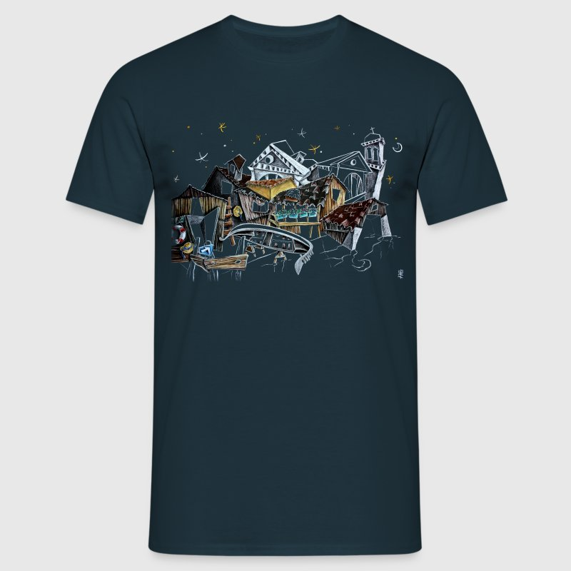Man T-shirt Art Night City - Venice Italy - Men's T-Shirt