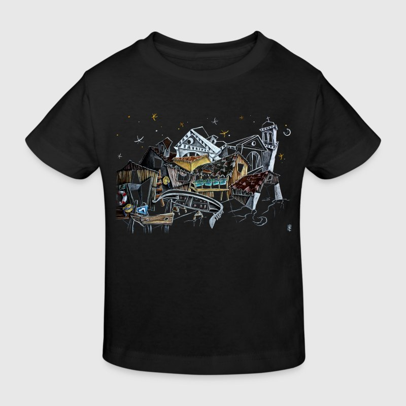 Bébé Art Dessin Illustration - Venise Italie - T-shirt bio Enfant
