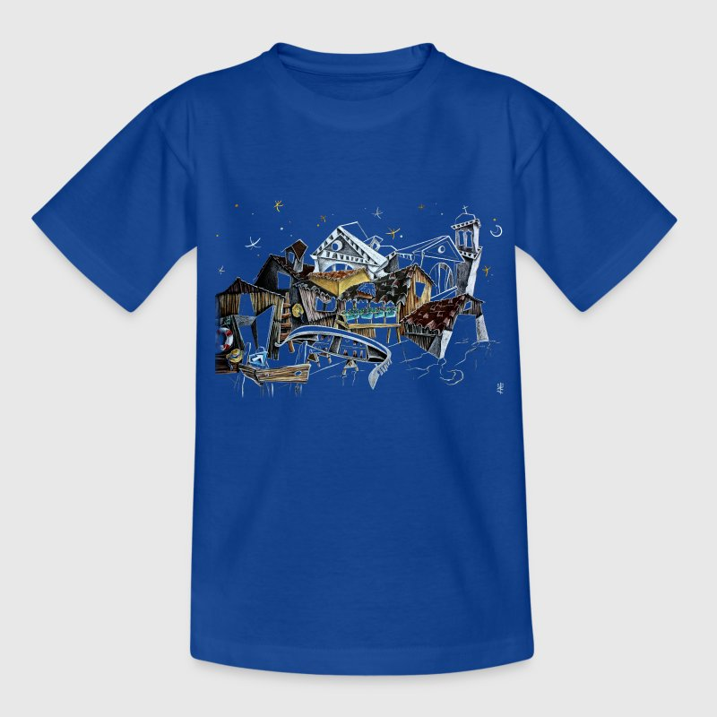 Kinder Kunst Illustration - Venedig Italien  - Teenager T-Shirt