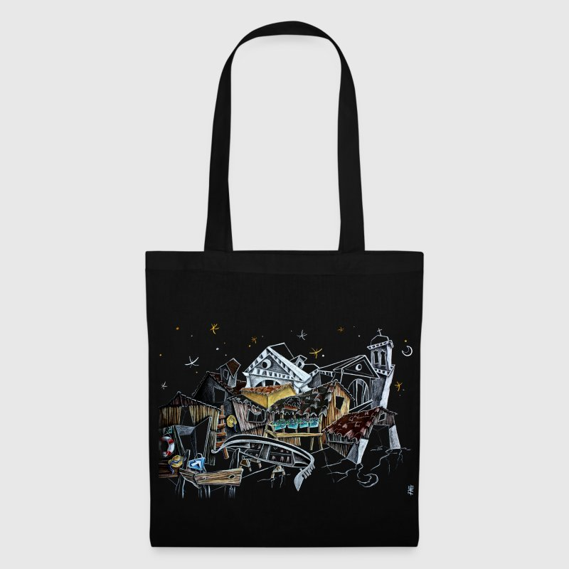 Black Bag Art Gondola - Venice italy - Tote Bag