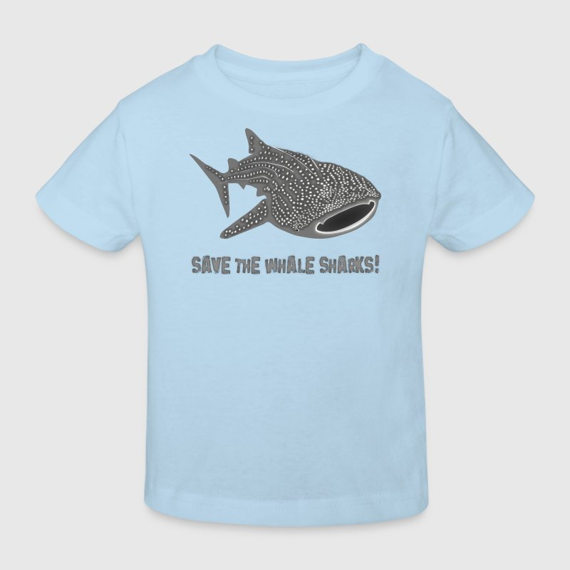 save the whale shark sharks fish dive diver diving endangered species Kids' Shirts - Kids' Organic T-shirt