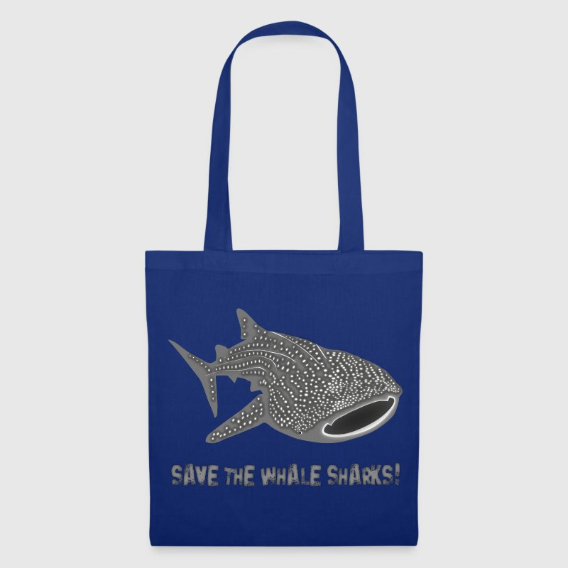 save the whale shark sharks fish dive diver diving endangered species Bags  - Tote Bag