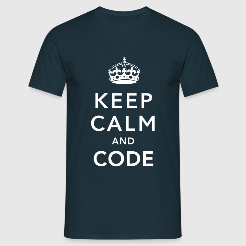 CALM DOWN AND CODE T-Shirts - Men's T-Shirt