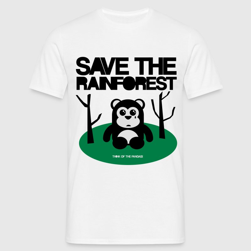 SAVE THE RAINFOREST! - Men's T-Shirt