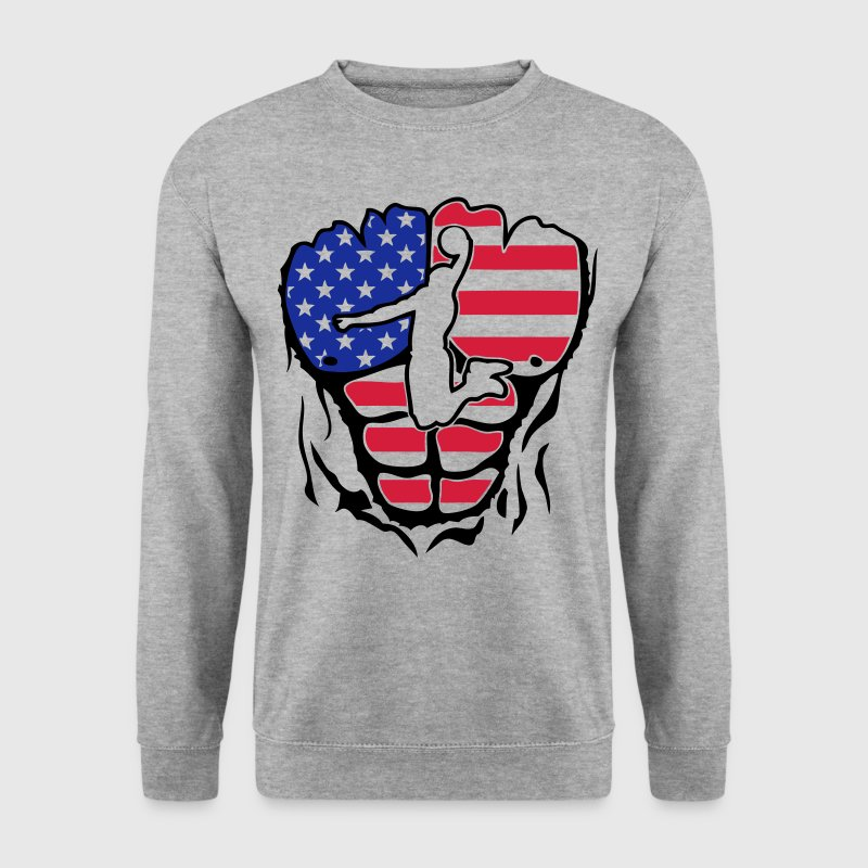 basket americain corps muscle dechire Sweat-shirts - Sweat-shirt Homme