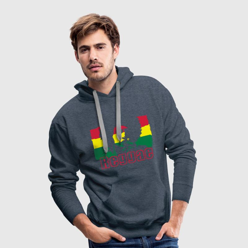 Reggae music Jamaica's flag. Hoodies & Sweatshirts - Men's Premium Hoodie