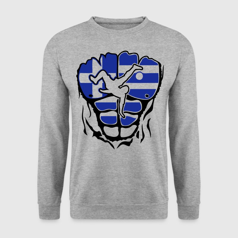 football grece drapeau corps muscle Sweat-shirts - Sweat-shirt Homme