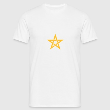 Star of the Magi - Pentagram - Sign of intellectual omnipotence and autocracy. Vector, Blazing Star, powerful symbol of protection Ropa interior - Camiseta hombre