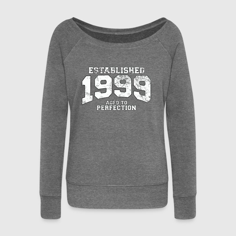 established 1999 - aged to perfection (uk) Hoodies & Sweatshirts - Women's Boat Neck Long Sleeve Top