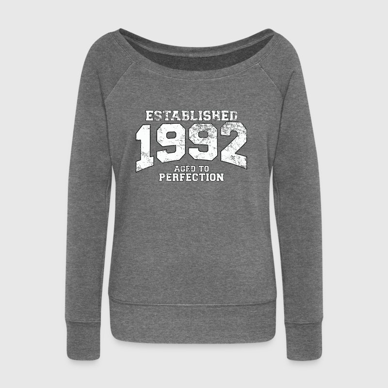 established 1992 - aged to perfection (fr) Sweat-shirts - Pull Femme col bateau de Bella