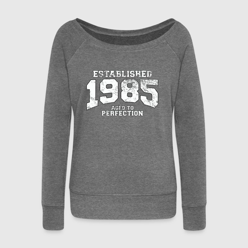 established 1985 - aged to perfection (fr) Sweat-shirts - Pull Femme col bateau de Bella
