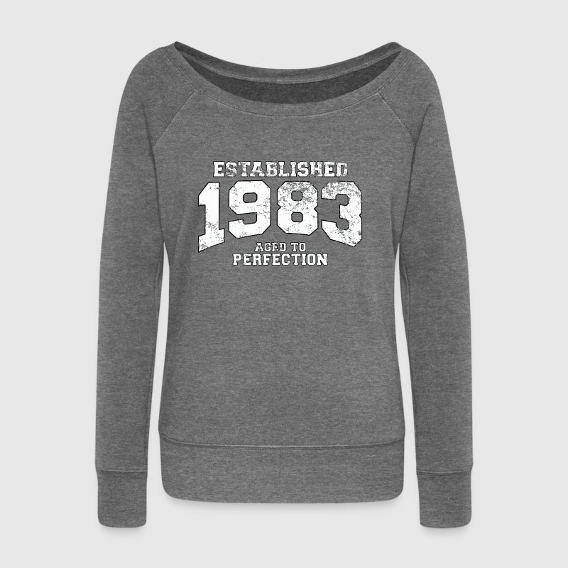 established 1983 - aged to perfection (fr) Sweat-shirts - Pull Femme col bateau de Bella