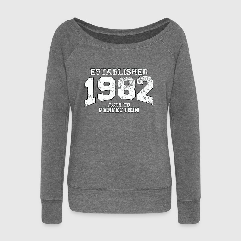 established 1982 - aged to perfection (uk) Hoodies & Sweatshirts - Women's Boat Neck Long Sleeve Top