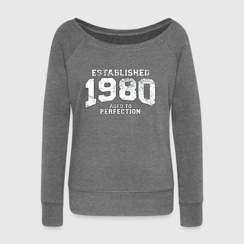 established 1980 - aged to perfection (fr) Sweat-shirts - Pull Femme col bateau de Bella