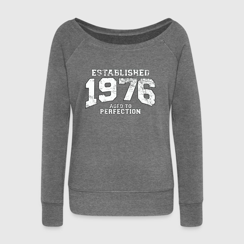 established 1976 - aged to perfection (fr) Sweat-shirts - Pull Femme col bateau de Bella
