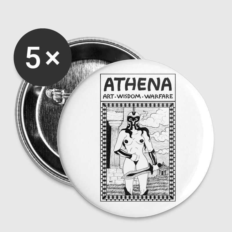 Athena the Goddess, Comic Book Character Design. - Buttons medium 32 mm