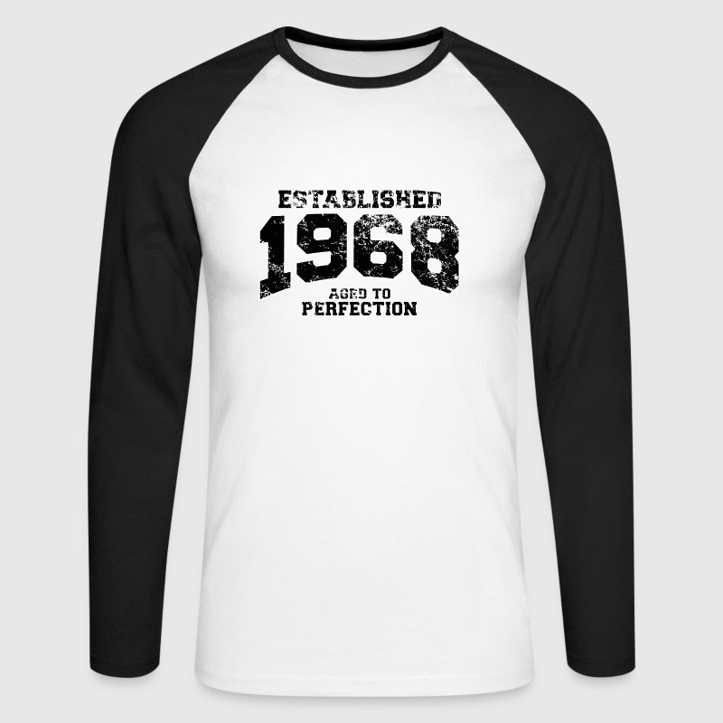 established 1968 - aged to perfection(it) Maglie a manica lunga - Maglia da baseball a manica lunga da uomo