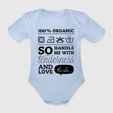 Typographic Laundry Tag TLC  Kids' Shirts - Organic Short-sleeved Baby Bodysuit