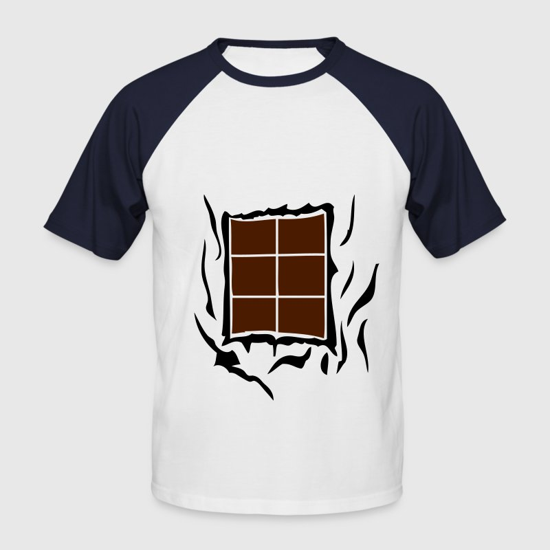 tablette chocolat abdominaux dechire1 Tee shirts - T-shirt baseball manches courtes Homme