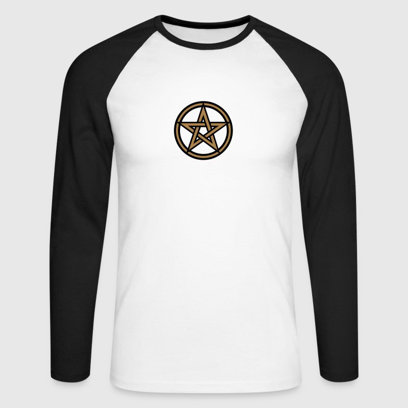 Pentagram amulet- Sign of intellectual omnipotence and autocracy. 2c, Star of the Magi , powerful symbol of protection Long sleeve shirts - Men's Long Sleeve Baseball T-Shirt