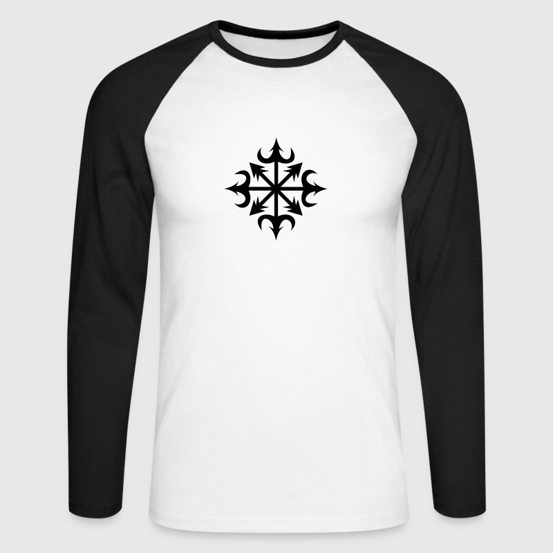 Chaos Star, Symbol of chaos, vector, everything has meaning and magic power! Power symbol, Energy symbol Long sleeve shirts - Men's Long Sleeve Baseball T-Shirt