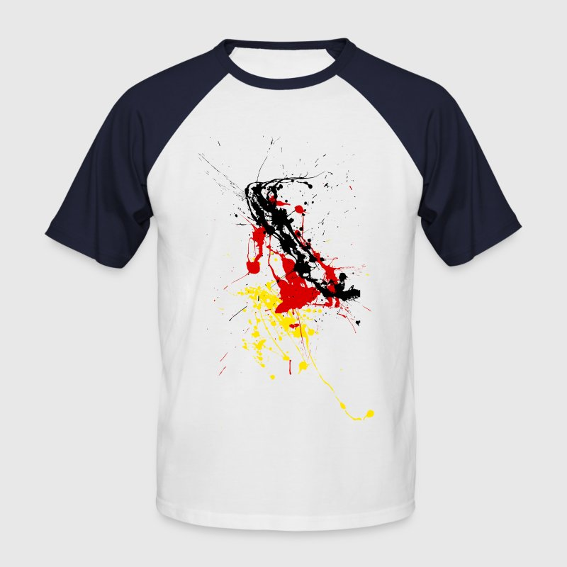 Germany fan Shirt - splashes of color T-Shirts - Men's Baseball T-Shirt