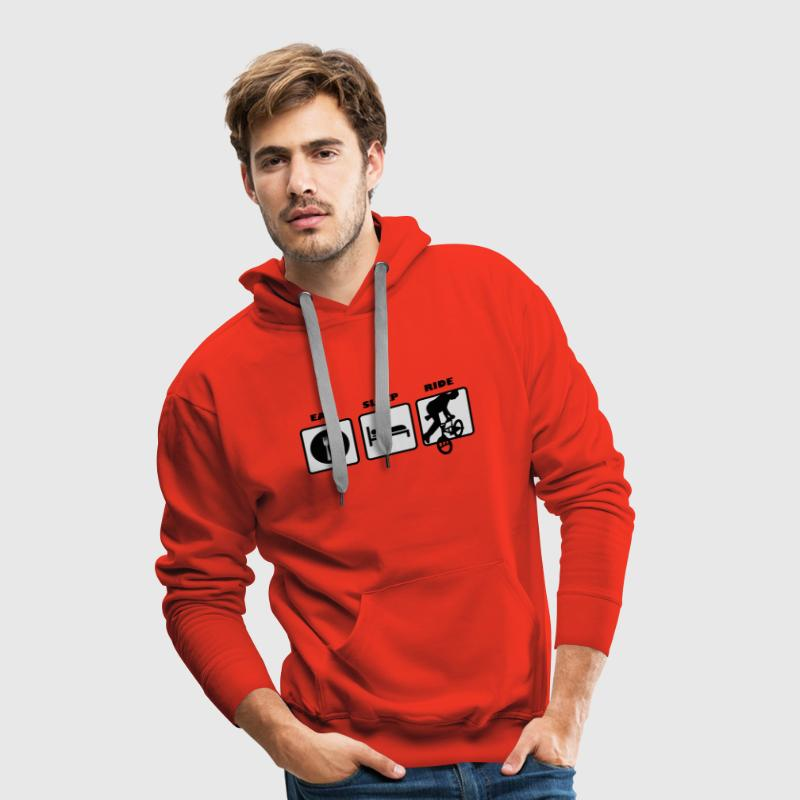 eat sleep ride bmx cross rad bike Pullover - Männer Premium Hoodie