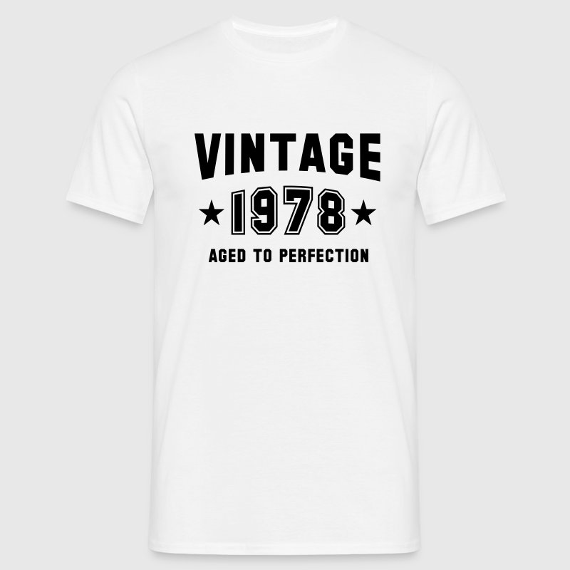 VINTAGE 1978 - Birthday T-Shirt White - Men's T-Shirt
