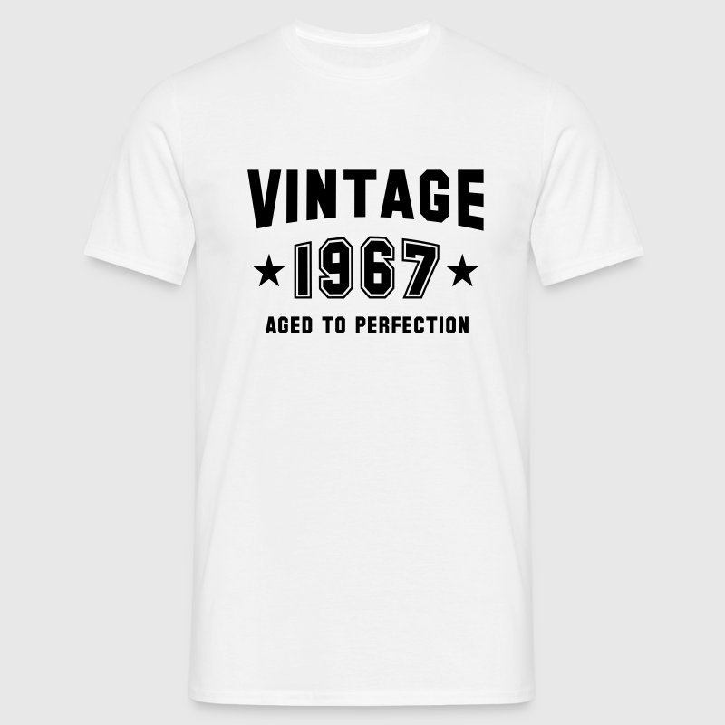 VINTAGE 1967 - Birthday T-Shirt White - Men's T-Shirt