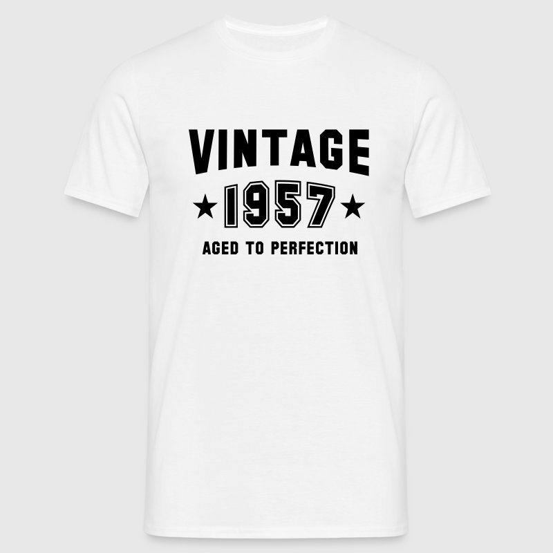 VINTAGE 1957 - Birthday T-Shirt White - Men's T-Shirt